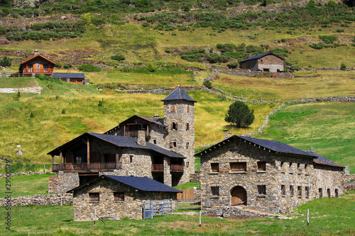 Typical village in Andorra, Vall d'Incles
