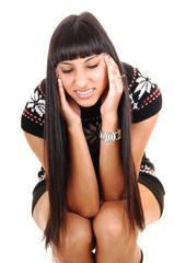Girl with headache.