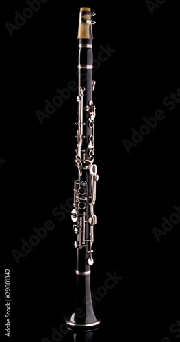 Clarinet isolated on black