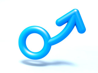 male symbol 3d illustration