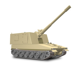 Imaginary self-propelled artillery