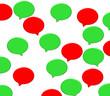 rote und grüne Sprechblasen