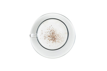 cappuccino cup isolated on a white background.