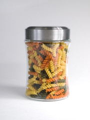 Jar of Uncooked Pasta