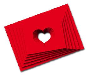 Cartoline d'amore forate