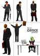 Big set of office people silhouettes. Vector illustration