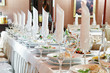 close-up catering table set
