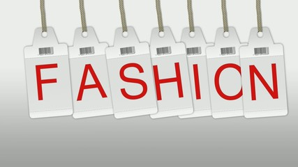 Etiquette fashion animation vidéo
