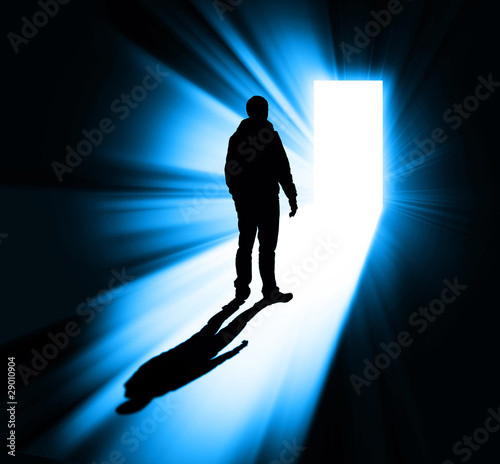 man silhouette in doorway