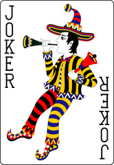 playing card joker black 62x90 mm
