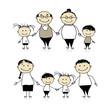 Detaily fotografie Šťastná rodina spolu - rodiče, prarodiče a děti