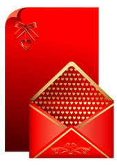 Red paper and envelope