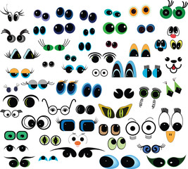 cartoon vector eyes collection