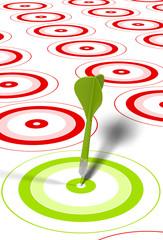 cible vert fléchette verte, succès, challenge