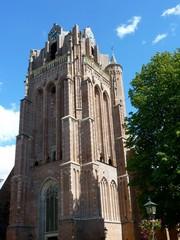 The flat tower of the church of Wijk bij Duurstede
