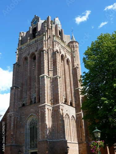 The flat tower of the church of Wijk bij Duurstede