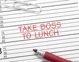 Calendar reminder, take boss to lunch