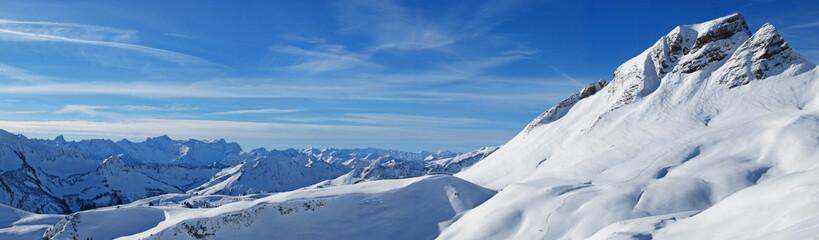 Vista panorámica sobre los Alpes