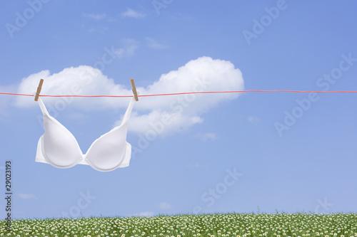 Leinwanddruck Bild Weiße Wäsche