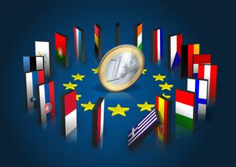 Eurozone kippt - Dominoeffekt - Euro dreht sich