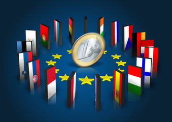 Eurozone - Dominoeffekt - Euro dreht sich