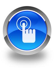 click hand cursor blue button