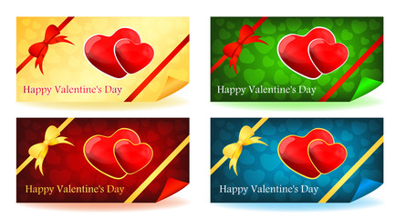 Two hearts / Valentine's Day cards