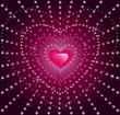 Diamond heart - vector illustration
