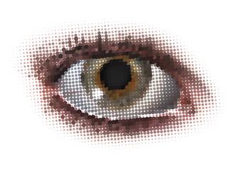 vector dots eye in color