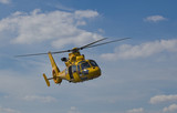 Yellow Helicopter flight
