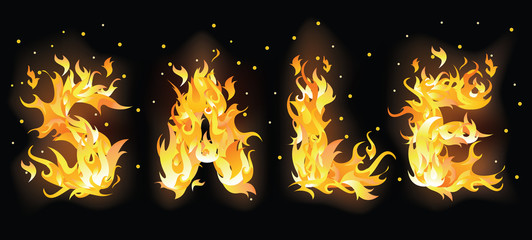 Fire sale banner. vector illustration