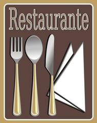 Cartel restaurante
