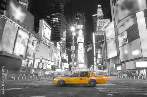 canvas print picture Taxi in New York