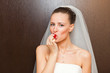 bride with strawberry
