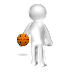 3d human with ball