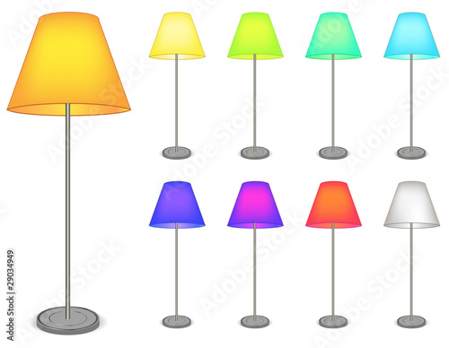 color tall lamp