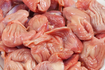 raw chicken gizzard