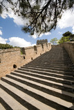 Steps Restored Mutianyu Section Great Wall, Beijing, China poster
