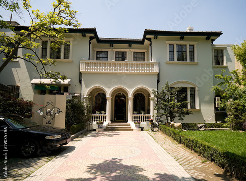 Old Mediterranean Style Stucco Home in Shanghai, China