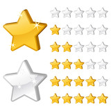 Fototapety Rating stars for web-2
