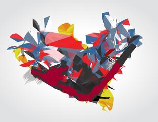 Abstract vector heart.
