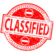 "Rubber stamp illustration showing ""CLASSIFIED"" text"