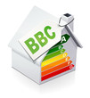 Maison à la norme BBC de classe A (reflet)