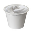 white jar of yogurt