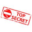 "Rubber stamp illustration showing ""TOP SECRET"" text"