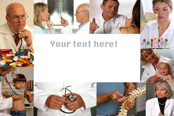Collage - Medizin mit Textfreiraum
