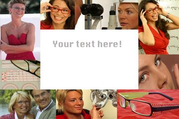 Collage - Augenoptik mit Textfreiraum