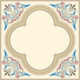 Heraldic ornamental frame in medieval style poster