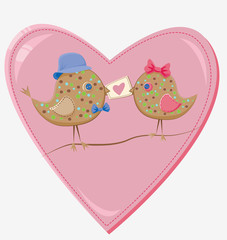 valentine's day birds
