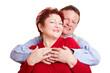 Ältere Ehefrau und ihr Mann